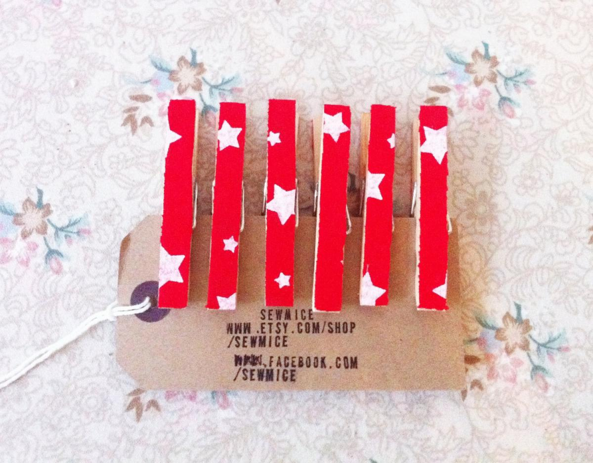Fabric covered clothes pegs